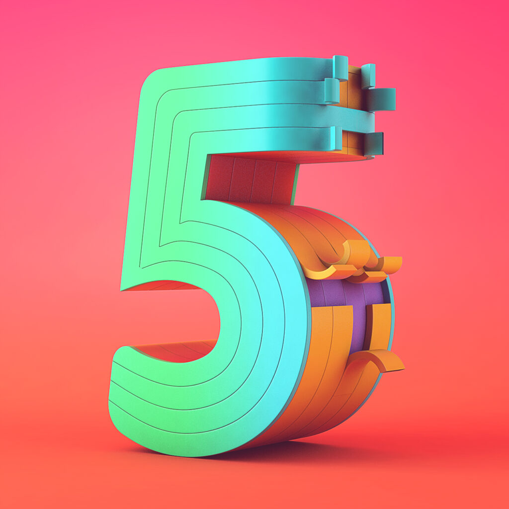 36DaysOfType_number_5